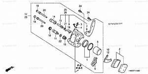 Honda Atv 2003 Oem Parts Diagram For Front Brake
