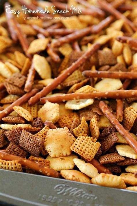 homemade snack mix recipe yummy healthy easy