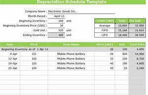 depreciation schedule template word excel With asset schedule template