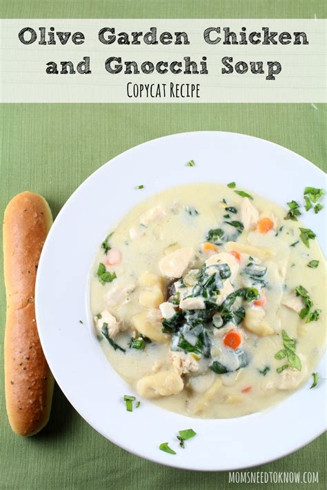 olive garden chicken and gnocchi soup copycat olive garden chicken and gnocchi soup recipe