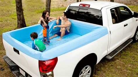 Truck Bed Pool Liner by American Made Up Pools Turn Your Truck Bed Into A