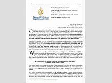 Harvard MUN India '14 Press Corps Al Jazeera Position Paper