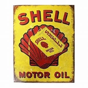 Plaque Publicitaire Métal : plaque m tal publicitaire 30x40cm plate shell motor oil ~ Teatrodelosmanantiales.com Idées de Décoration
