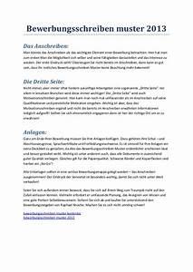 bewerbungsschreiben muster 2013 With bewerbung muster b u00fcromanagement