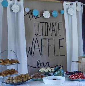 couples shower ideas waffle bar pear tree blog With couples wedding shower ideas