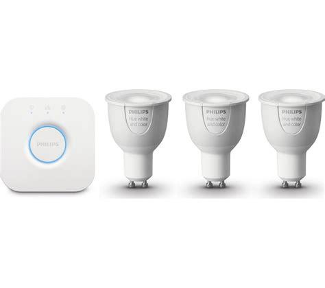 buy philips hue wireless bulbs starter kit gu10 free