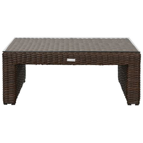 Southport Dark Brown Woven Coffee Table