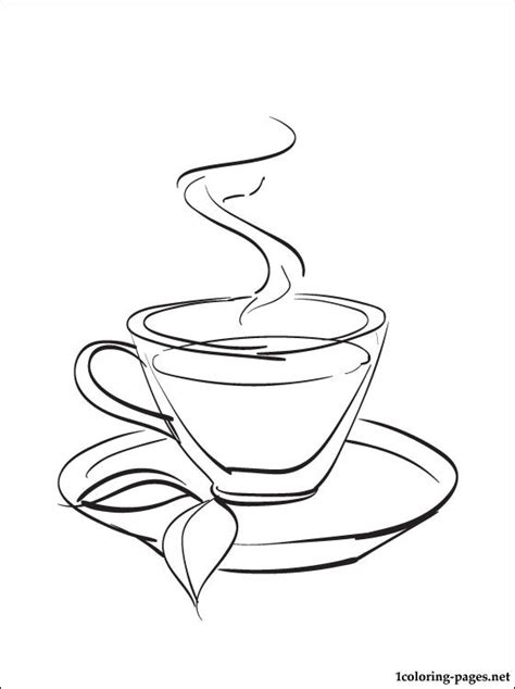 tea coloring page coloring pages