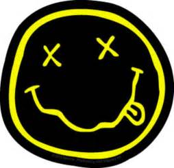 large gift bags nirvana smiley sticker
