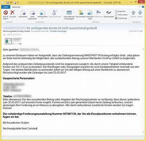 Rechnung Anwalt : vorname nachname ihr vorliegendes konto ist nicht ausreichend gedeckt von rechnungsstelle ~ Themetempest.com Abrechnung