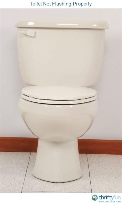toilet is not flushing toilet not flushing properly thriftyfun
