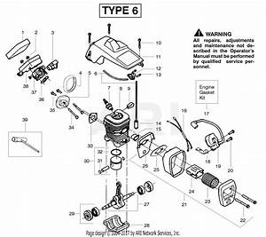 Poulan 2150 Pr Gas Chain Saw Parts Diagram For Engine Type 6