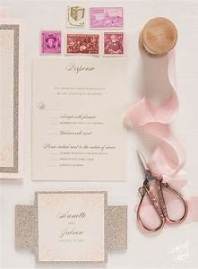 annette jabians blush pink and gold foil wedding With luxury wedding invitations nj