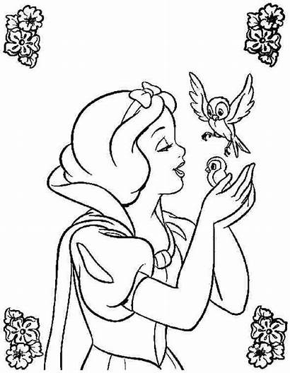 Snow Disney Coloring Princess Colouring Printable Books