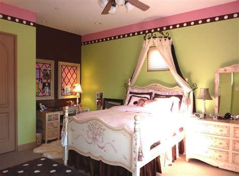 pink chocolate brown  lime green bedroom update