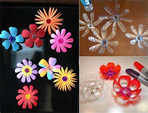 Bastelideen Mit Pet Flaschen Fuer Diy Blumentoepfe by Recycling Basteln Kinder Pet Flaschen Blumen Formen