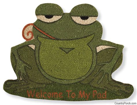 Skid Resistant Rugs by Welcome To My Pad Frog Doormat
