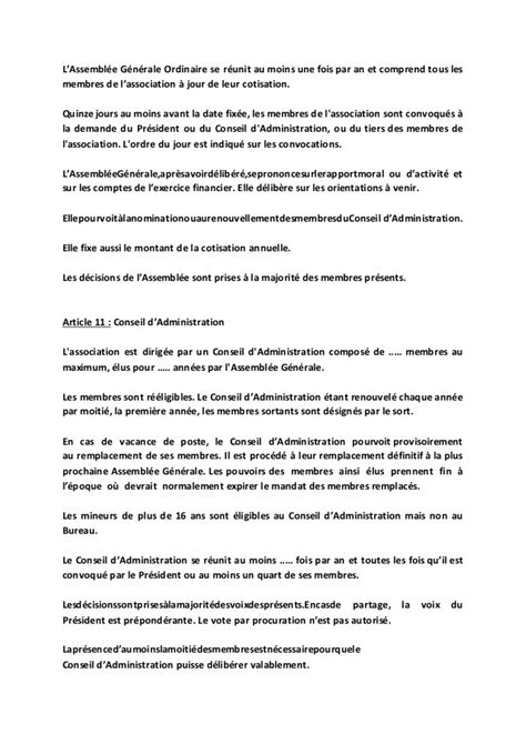 exemple reglement interieur association loi 1901 modele statuts association but non lucratif document