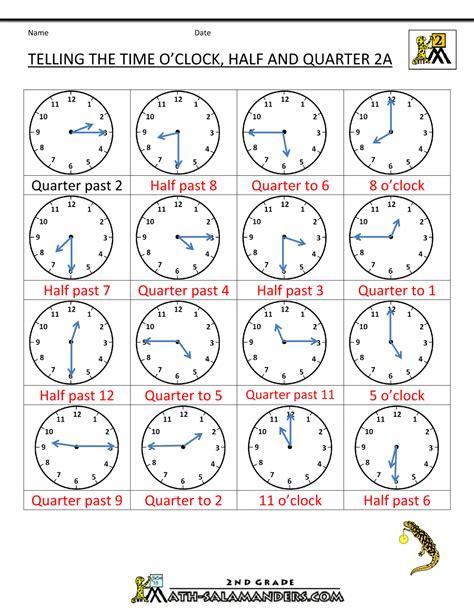 Worksheet Half Past  New Calendar Template
