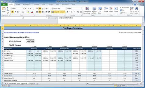 employee  shift schedule templates