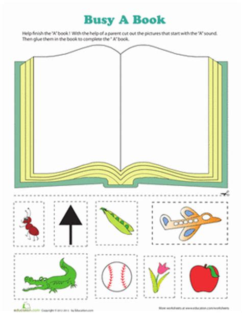 alphabet worksheets busy a book worksheet education