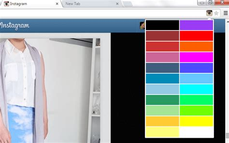 change  background color  instagram  chrome