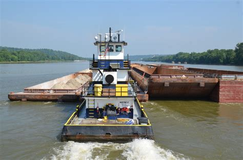 Tugboat And Barge by Inland Waterway Industry Tugboat Towboats And Barges
