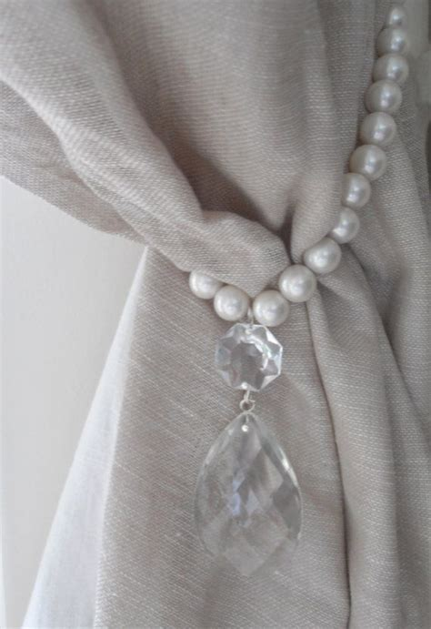 White Curtain Tie Backs Traditional  White Curtain Tie