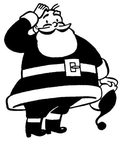 more clipart retro clip more santas the graphics