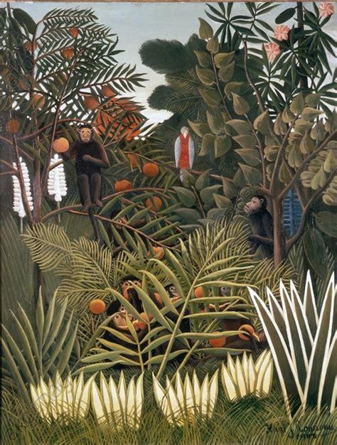 akg images paysage exotique avec singes   perroquet