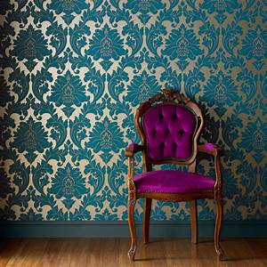 Majestic Teal Wallpaper