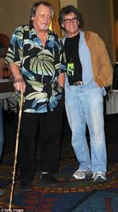 Starsky And Hutch Cast Where Are They Now - david soul walks with a wooden stick as he is reunited
