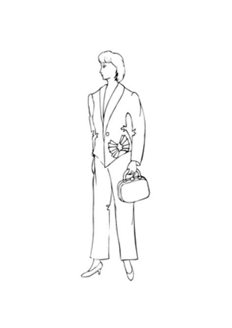 ausmalbilder model im business anzug models malvorlagen