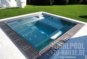 Whirlpool Outdoor Selber Bauen : ab in die zukunft bodenebener edelstahl whirlpool teich pool pinterest ~ Pilothousefishingboats.com Haus und Dekorationen