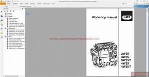 Hatz Diesel 2w35 3w35 3w35t 4w35 4w35t Workshop Manual