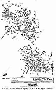 Yamaha Motorcycle 1985 Oem Parts Diagram For Cylinder Head