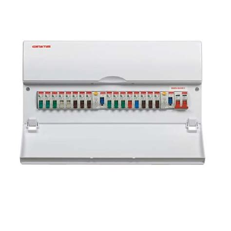 contactum 10 way populated dual split consumer unit 80a dual rcd at uk electrical supplies