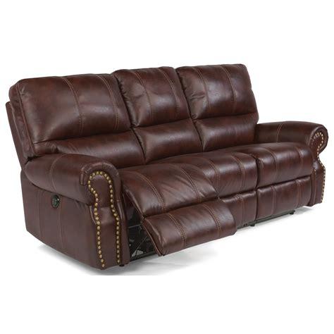 flexsteel leather reclining sofa flexsteel latitudes carlton traditional power reclining