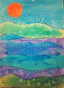 Angela Anderson Art Blog: Watercolor Technique Landscapes ...