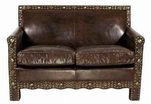 Ledersofa 2 Sitzer Braun : ledersofa berkshire 2 sitzer vintage leder messingieten kaufen bei mehl wohnideen ~ Bigdaddyawards.com Haus und Dekorationen