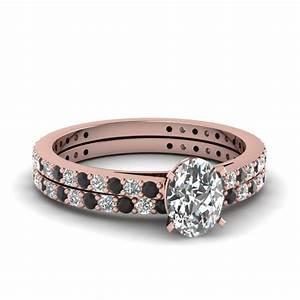 14k rose gold oval shaped wedding sets engagement rings With oval shaped wedding ring