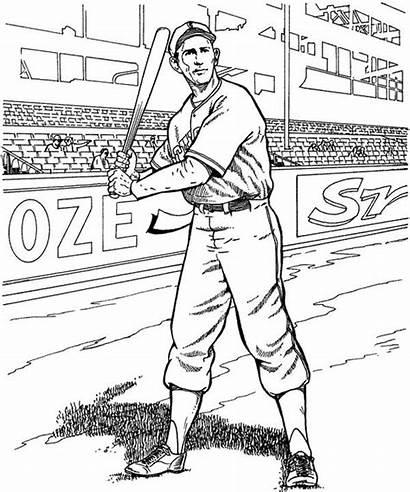 Baseball Coloring Pages Players Player Printable Hank
