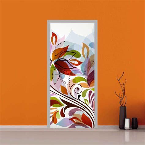 adesivi fiori adesivo per porta fantasia floreale e fiori