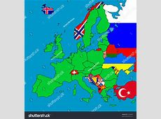 Map Europe All Noneu Member Countries Stock Illustration