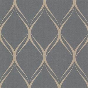 Platinum (Decorline) Geometric Wallpaper - Contemporary