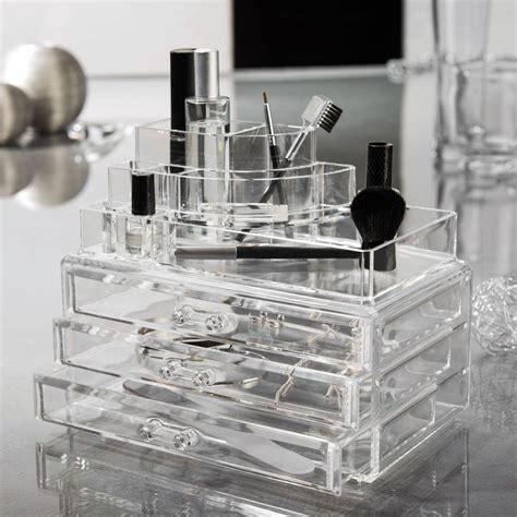 boite pour ranger le maquillage grande boite bijoux maquillage 3 tiroirs 24x15x18 7cm organizer transparent