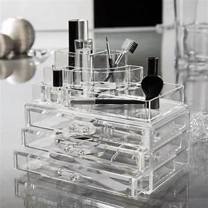 grande boite bijoux maquillage 3 tiroirs 24x15x187cm With meuble salle de bain maquillage