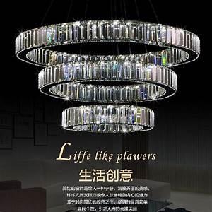 Lustre Cristal Moderne : luxe 3 anneaux moderne lustre en cristal avec de luxe de la t l commande led cristal lampe pour ~ Teatrodelosmanantiales.com Idées de Décoration