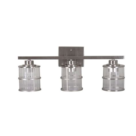 Allen And Roth Bathroom Vanity Lights by Shop Allen Roth 3 Light Satin Nickel Bathroom Vanity