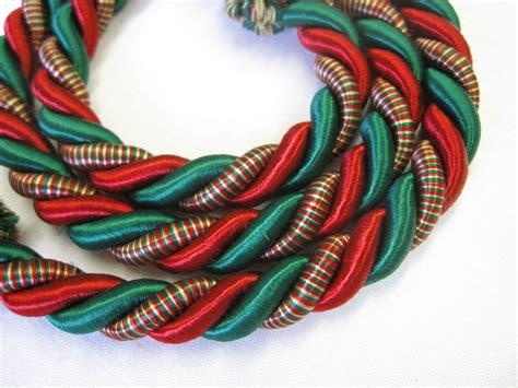 rope curtain tiebacks red green slender slinky cord